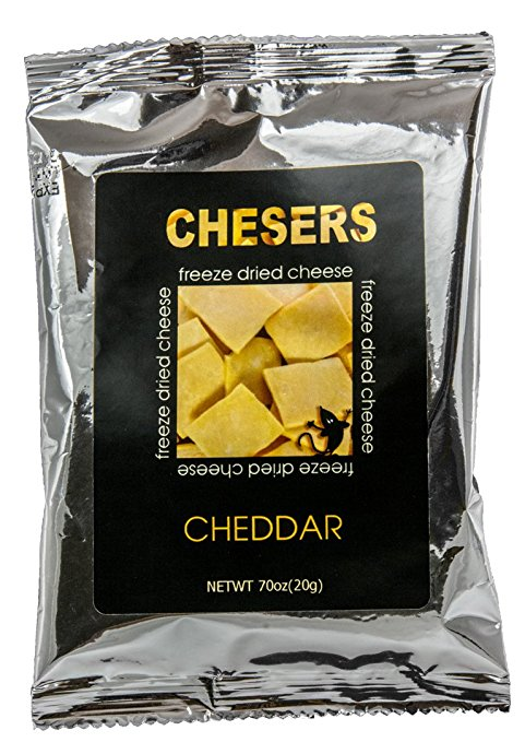 Chesers freeze dried cheese