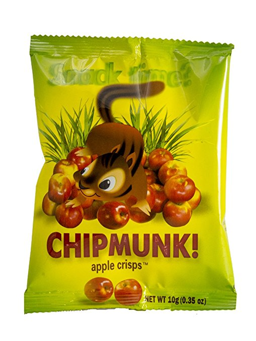 Chipmunk freeze dried apple crisps