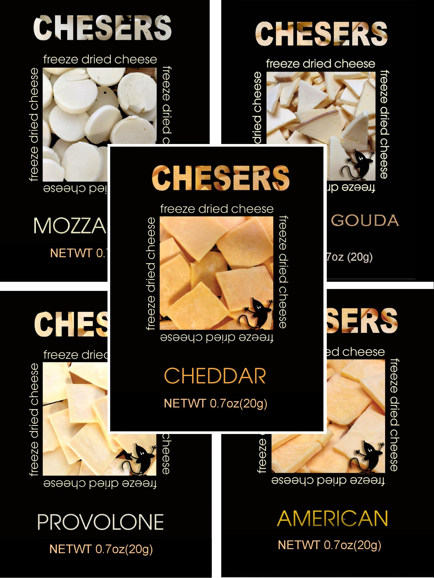 Chesers Freeze Dried Cheese Variety Pack