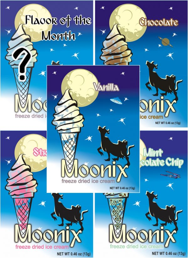 Freeze Dried Ice Cream Moonix Best Sellers Variety