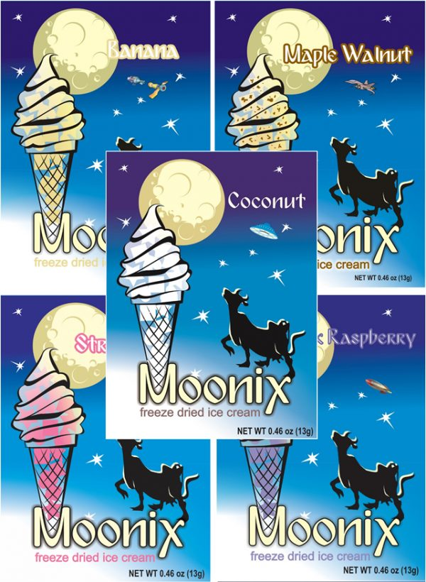 Freeze Dried Ice Cream Moonix Fruit and Nut Variety