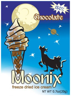 Moonix 150 Freeze Dried Ice Cream Chocolate