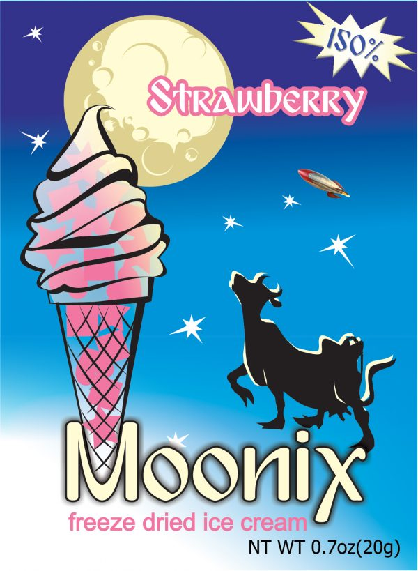 Freeze Dried Ice Cream Moonix 150 Strawberry