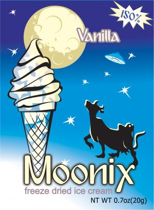 Moonix 150 Freeze Dried Ice Cream Vanilla