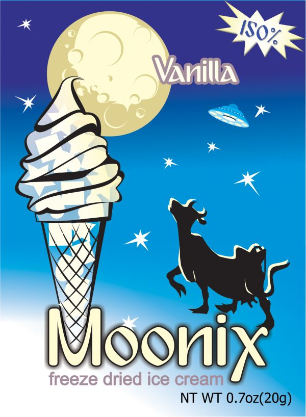 Freeze Dried Vanilla Ice Cream Moonix 150