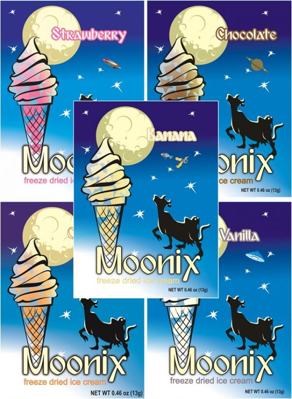 Moonix Banana Split Freeze Dried Ice Cream