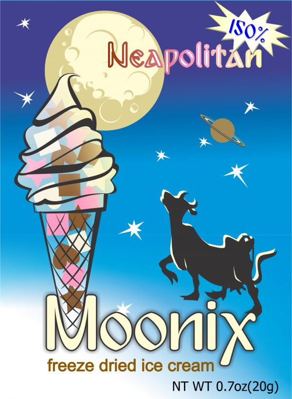 Moonix Neapolitan 150 Freeze Dried Ice Cream