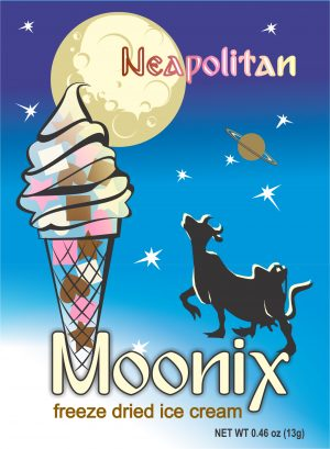 Moonix Freeze Dried Ice Cream Neapolitan