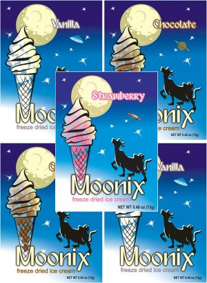 Moonix Freeze Dried Ice Cream Neapolitan Variety