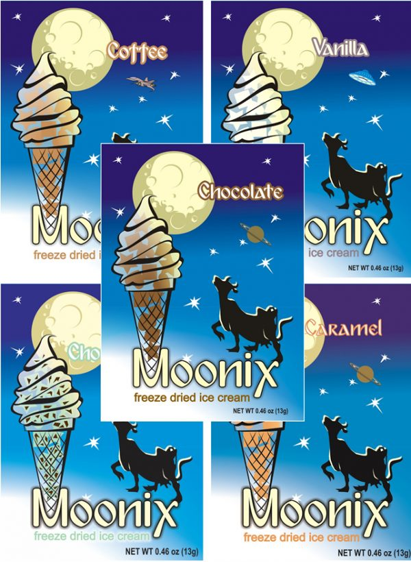 Freeze Dried Ice Cream Moonix Chocolate flavour