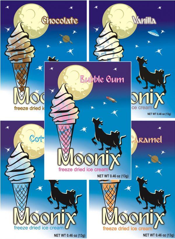 Freeze Dried Ice Cream Moonix Bubble Gum flavour
