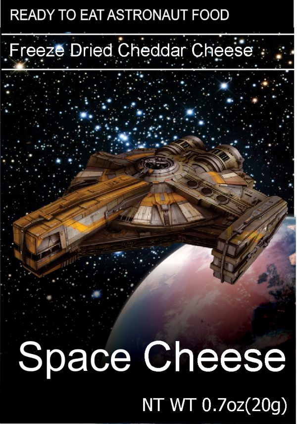 Freeze dried space cheese Cheddar