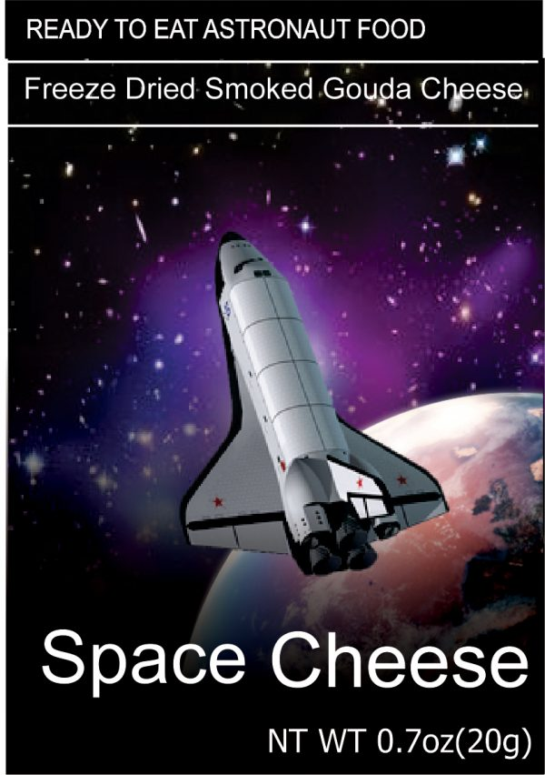 Freeze dried space cheese Gouda