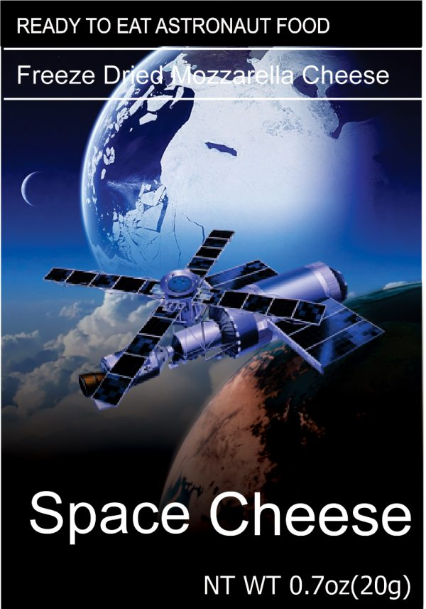 Freeze dried space cheese Mozzarella