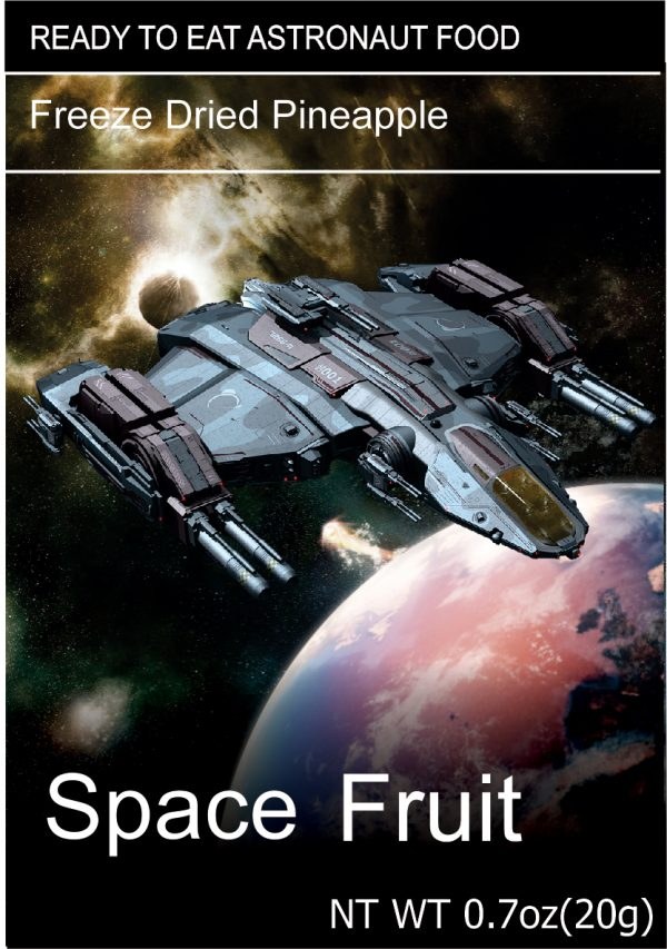 Freeze Dried Snacks Space Fruit Pineapple