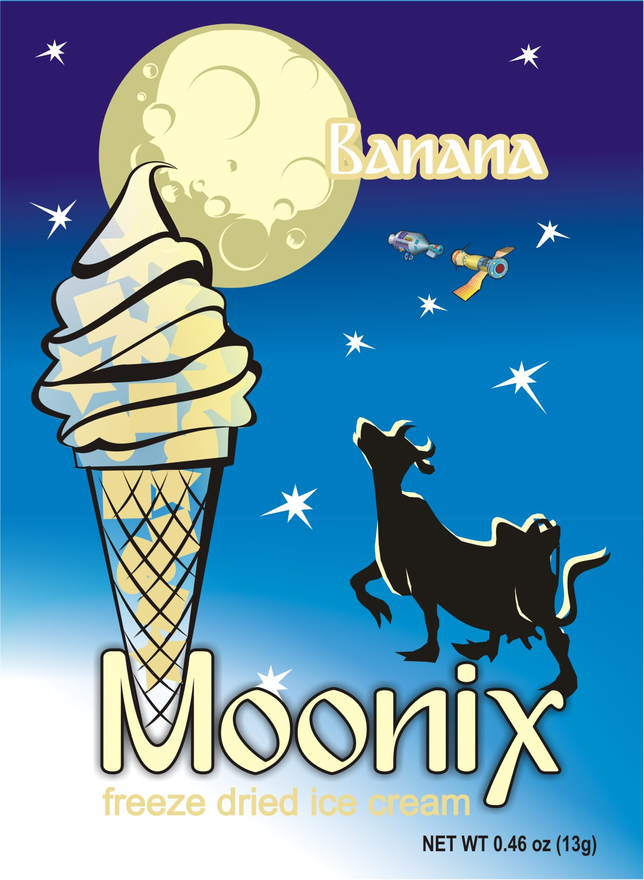Moonix Freeze Dried Ice Cream Banana