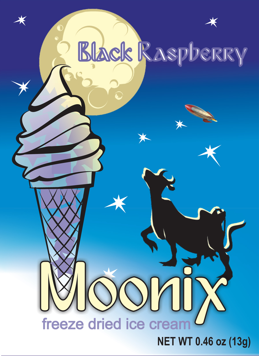 Moonix Freeze Dried Ice Cream Black Raspberry