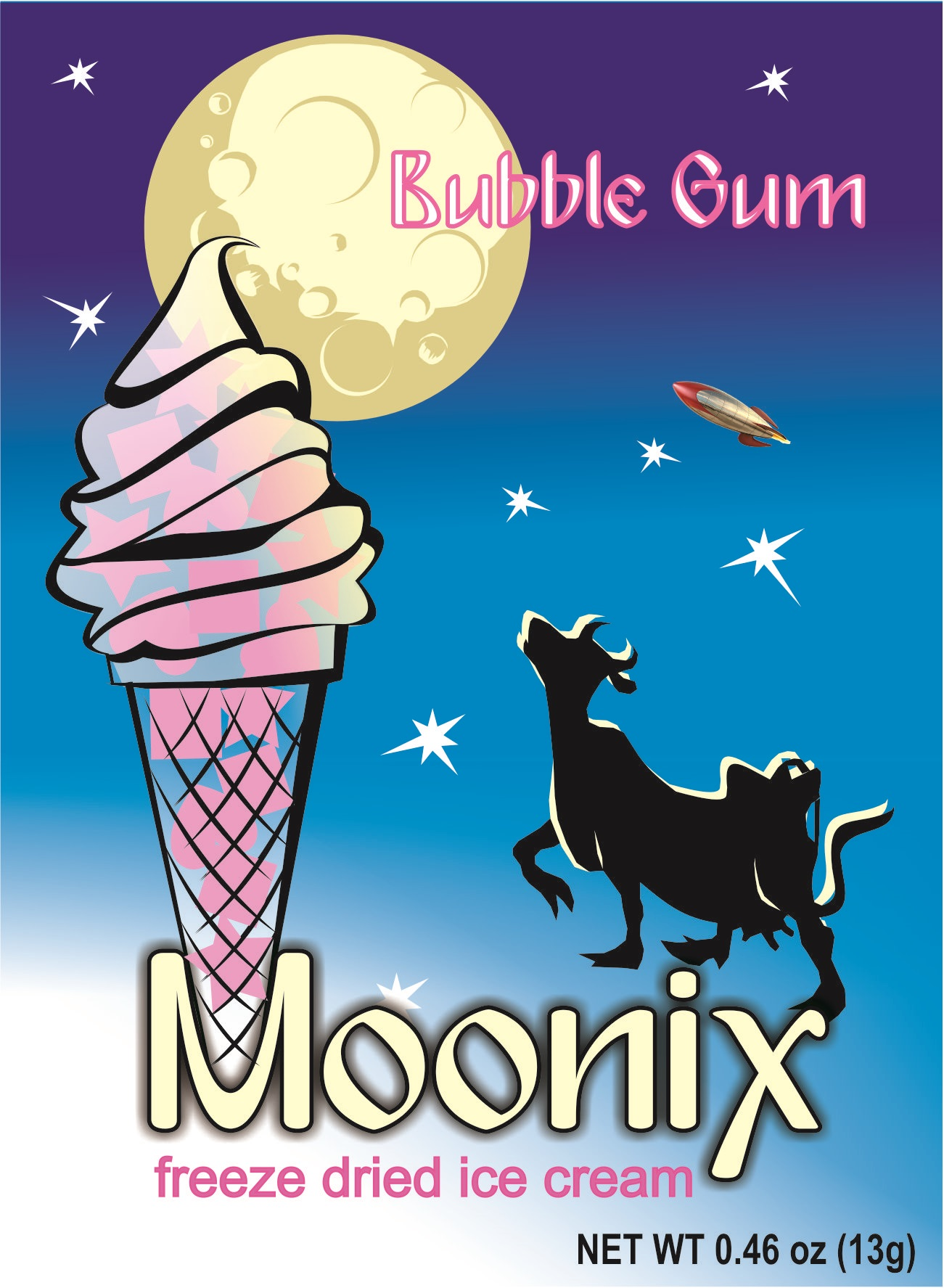 Moonix Freeze Dried Ice Cream Bubble Gum