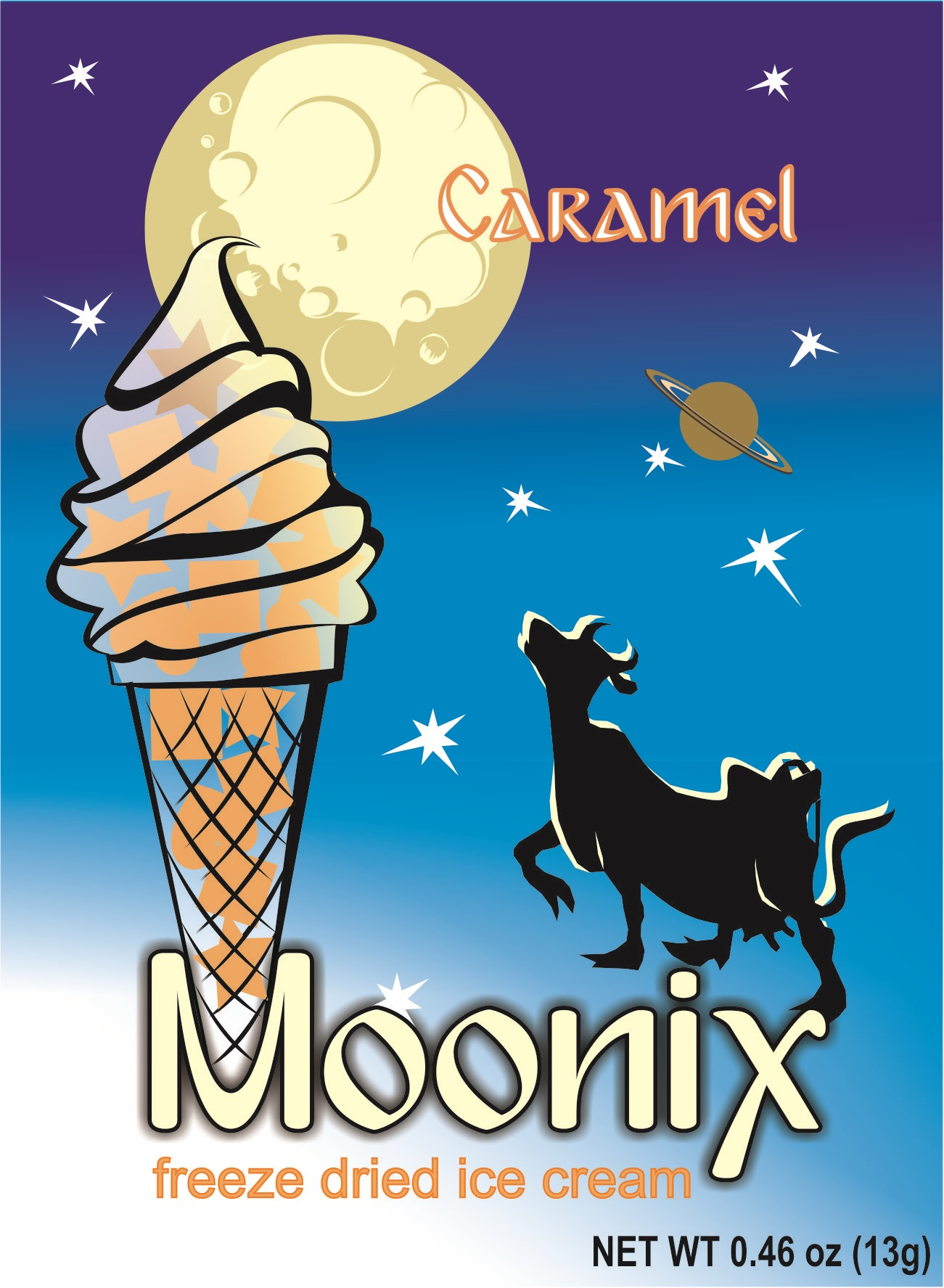 Moonix Freeze Dried Ice Cream Caramel