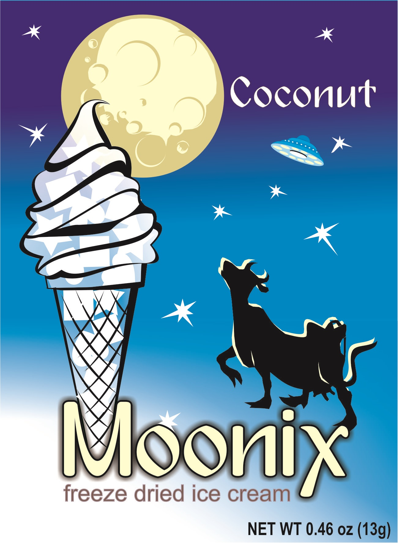 Moonix Freeze Dried Ice Cream Coconut