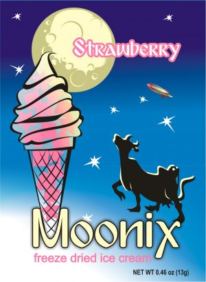 Moonix Freeze Dried Ice Cream Strawberry