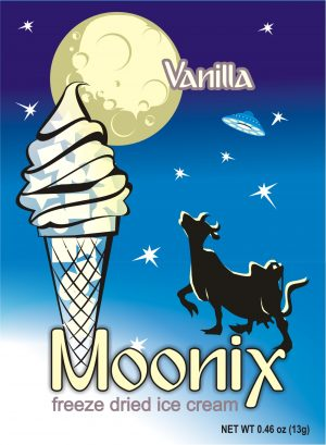 Moonix Freeze Dried Ice Cream Vanilla